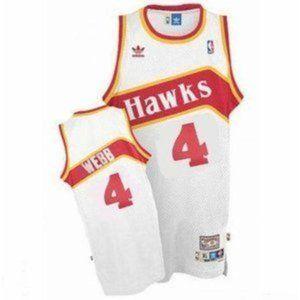 Atlanta Hawks Spud Webb White Jersey